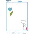 Imprimer l' Exercice 4 : ajouter des fleurs pour faire le chiffre 3