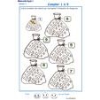 Imprimer la fiche pour colorier le bon nombre de bonbons Exercice 3 maternelle niveau 3