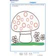 Exercice 7 pour compter et colorier le bon points sur le champignon 1