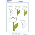 Exercice 1 pour colorier le nombre de fleurs indiqué par la consigne