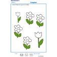 Exercice 3 pour colorier le nombre de fleurs indiqué par la consigne