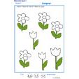 Exercice 4 pour colorier le nombre de fleurs indiqué par la consigne