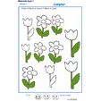 Exercice 6 pour colorier le nombre de fleurs indiqué par la consigne
