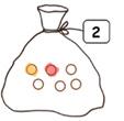 Exercice pour colorier le bon nombre de billes