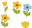 modèle pour l'Exercice 4 surles fleurs à colorier