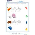 Imprimer l'Exercice 5 pour apprendre à compter maternelle niveau 1