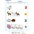 Imprimer l'Exercice 6 pour apprendre à compter maternelle niveau 1