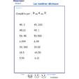 Imprimer l'exercice 2 sur les nombres décimaux