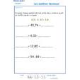 Imprimer l'Exercice 3 sur les nombres décimaux