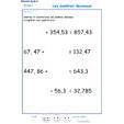 Imprimer l'exercice 7 sur les nombres décimaux