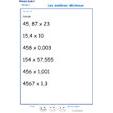 Imprimer l'exercice 8 sur les nombres décimaux