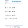 Imprimer l'exercice 9 sur les nombres décimaux