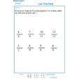 Imprimer l'exercice 1 sur les fractions