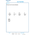 Imprimer l'exercice 3 sur les fractions