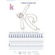 Ecrire et colorier le k