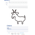 Exercice d'écriture sur la chèvre