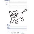 Imprimer l'exercice d'écriture sur le chat