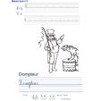 Imprimer l'exercice d'écriture sur le dompteur