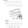 Imprimer l'exercice d'écriture sur l'école