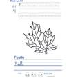 Exercice d'écriture sur la feuille