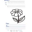 Imprimer l'exercice d'écriture sur la fleur