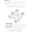 Imprimer l'exercice d'écriture sur la grenouille