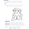 Imprimer l'exercice d'écriture sur le garcon