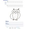 Imprimer l'exercice d'écriture sur le hibou