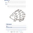Imprimer l'exercice d'écriture sur le hérisson
