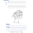 Imprimer l'exercice d'écriture sur l'arbre