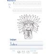 Imprimer l'exercice d'écriture sur l' indien