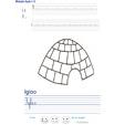 Imprimer l'exercice d'écriture sur l' igloo