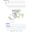 Imprimer l'exercice d'écriture sur le koala