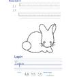 Imprimer l'exercice d'écriture sur le lapin