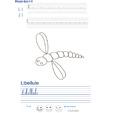 Imprimer l'exercice d'écriture sur la libellule