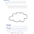 Imprimer l'exercice d'écriture sur le nuage