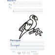 Imprimer l'exercice d'écriture sur le perroquet