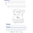 Imprimer l'exercice d'écriture sur le panda