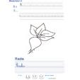 Imprimer l'exercice d'écriture sur le radis