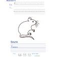Imprimer l'exercice d'écriture sur la souris
