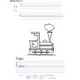 Imprimer l'exercice d'écriture sur le train