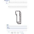 Imprimer l'exercice d'écriture sur le un