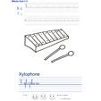 Exercice d'écriture sur le xylophone