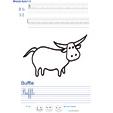 Imprimer l'exercice d'écriture sur le buffle