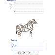 Imprimer l'exercice d'écriture sur le zebre