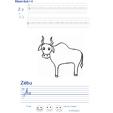 Imprimer l'exercice d'écriture sur le zebu