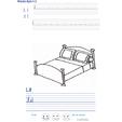 Imprimer l'exercice d'écriture sur le lit