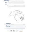 Imprimer l'exercice d'écriture sur la baleine
