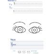 Imprimer l'exercice d'écriture sur le yeux