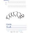 Imprimer l'exercice d'écriture sur la chenille